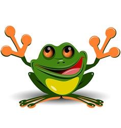 Merry frog vector