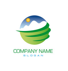 mountains logotype vector image