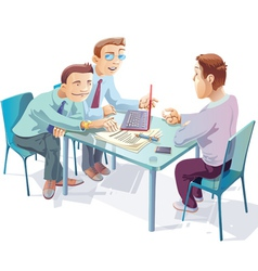 Negotiations vector image vector image