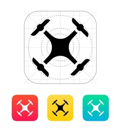Quadcopter drone icon vector