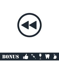 Rewind icon flat vector image vector image