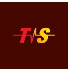 Sign of the letter t and s vector