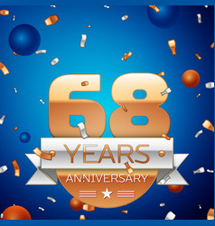Sixty eight years anniversary celebration design vector
