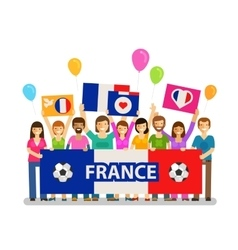 Soccer championship sport icon fans of france vector