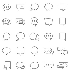 Speech bubble line icons on white background vector