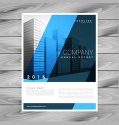 stylish blue brochure flyer design template for vector image