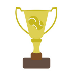 Tennis trophy design vector