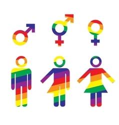 Transgender transsexual concept vector