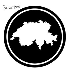 White map of switzerland on black vector
