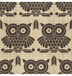 owls print vector image