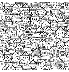 Cityscape background seamless pattern for your vector