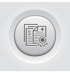Health Insurance Policy Icon Grey Button Design vector image