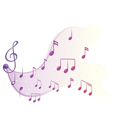 The different musical notes vector image