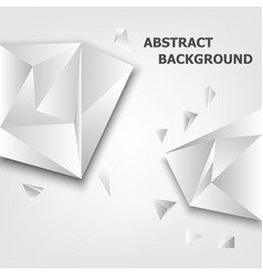 Triangle 3d polygon abstract background vector