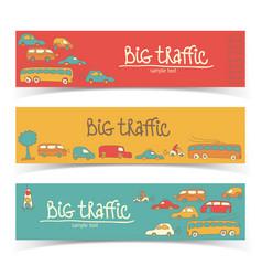 Transport truffic banner set vector