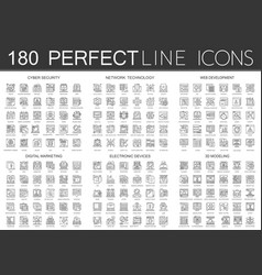180 outline mini concept infographic symbol icons vector