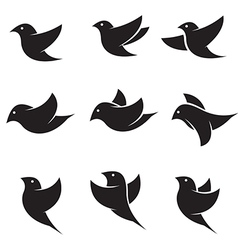 Bird icons vector