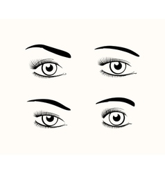 Woman eye silhouettes vector