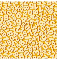 Numbers seamless pattern vector