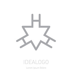 Logo with triangle and letter h logotype template vector