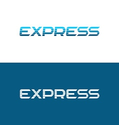 Express word logo vector