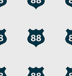 Route 88 highway icon sign seamless abstract vector