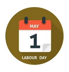 Calendar flat icon may 1 vector