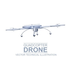Drone technical vector