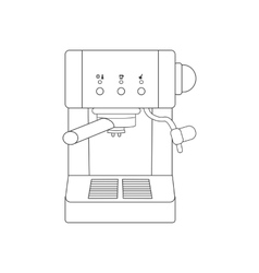 Coffee espresso machine path vector