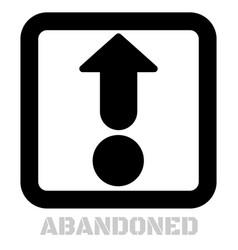 Abandoned conceptual graphic icon vector