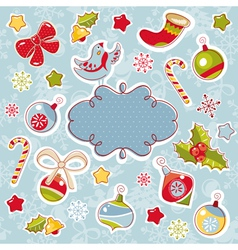abstract cute ornate christmas frame vector image