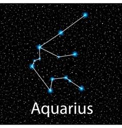 Aquarius Zodiac sign bright stars vector image