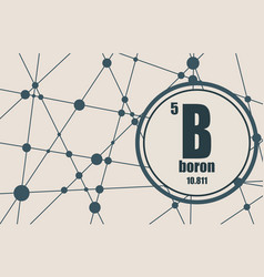 boron chemical element vector image vector image