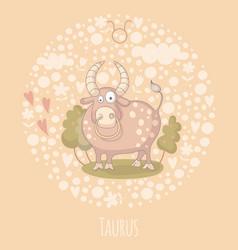 Cartoon of the bull taurus vector
