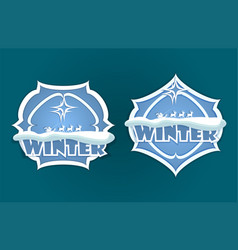 christmas sign of blue color vector image