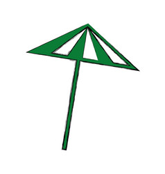 Cocktail umbrella isolated icon vector