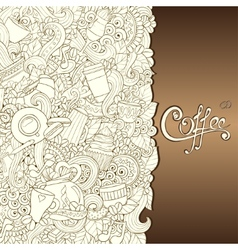 Coffee Hand-Drawn vector image