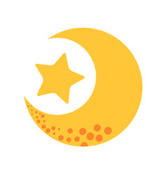 cute moon with star vector image vector image
