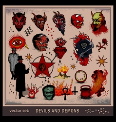 Devils and demons vector