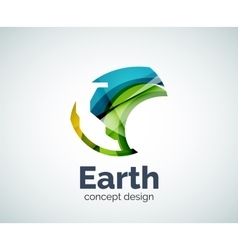 Earth logo template vector image