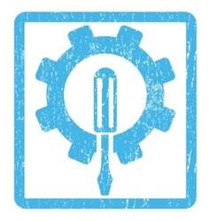 Engineering icon rubber stamp vector