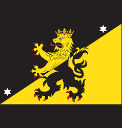Flag of vastergotland is the provinces of sweden vector