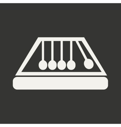 Flat in black and white mobile application symbol vector