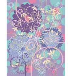 floral greeting card background vector image vector image