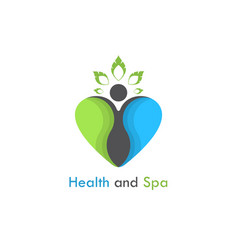 Health amp spa logo design templatehealthcare vector