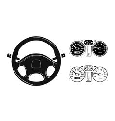 icon steering wheel vector image