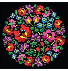 Kalocsai folk art embroidery - hungarian vector