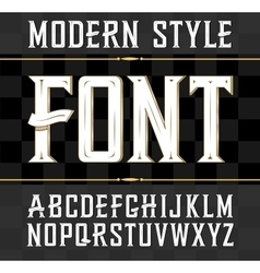Label font modern style whiskey label vector