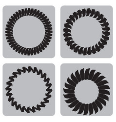 Monochrome set of icons with springs vector