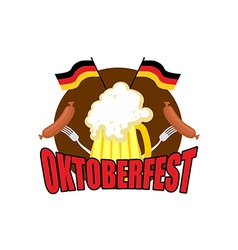 Oktoberfest logo beer festival in germany vector